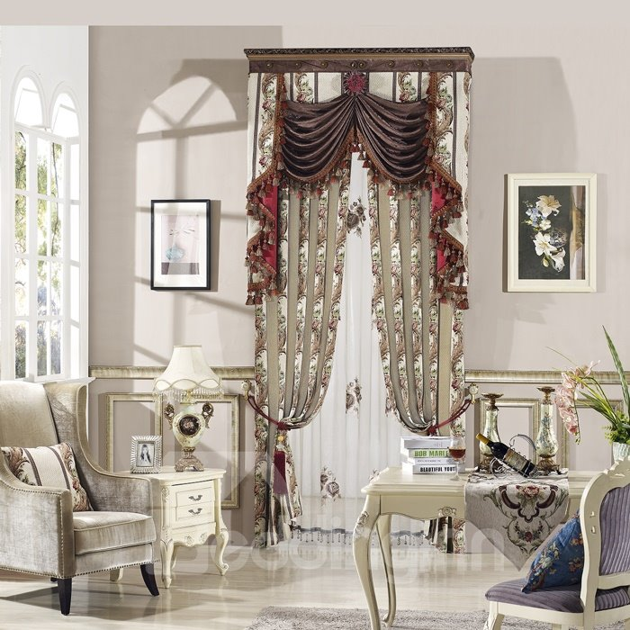 High Shading Degree High Precision Glamorous Chenille Polyester Curtain