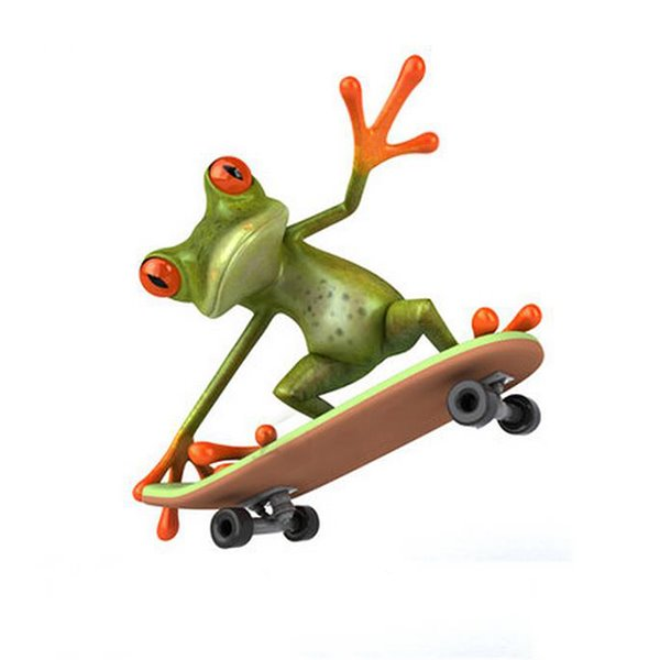 Skateboard Frog Style Car Sticker