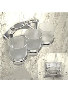 Creative Alumimum Never Rust Three-Cup Toothbrush Holder