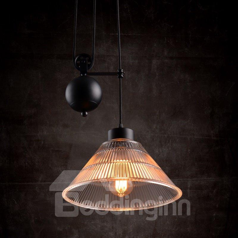Retro American Country Style Loft Dining Room Corridor Crystal Pendant Light