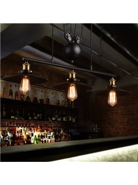 Nordic Retro Creative Umbrella-Shaped Bar Pendant 3-Head Lights