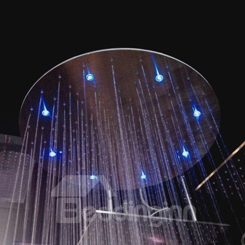 20 Inches Round  Stainless Steel Temperature Control LED Shower Head