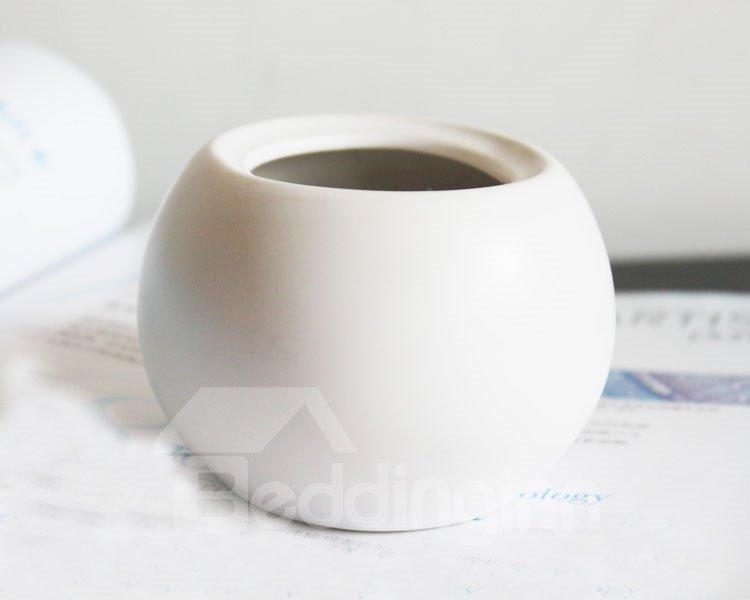 Realistic Decorative Roses in Pure Porcelain Pot Artificial Flowers
