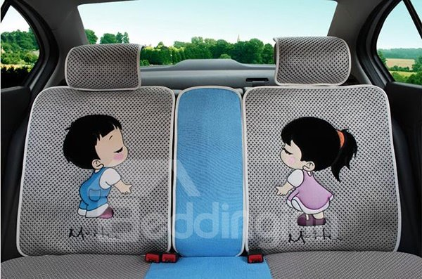 Love You Love Me Style Ice Silk Gift Car Seat Cover