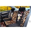 Tiger Stripes and Cute Boys and Girls Printing Plush Car Seat Cover