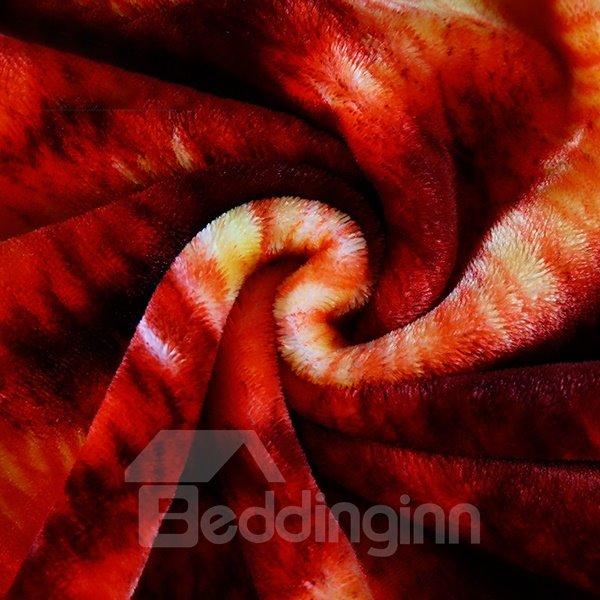 Lovebirds Printing Polyster Coral Blanket
