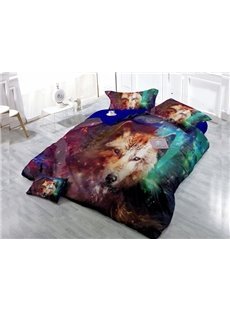 Lifelike Animal  4-Piece High Density Satin Drill Duvet Cover Sets