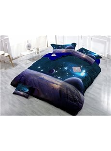 Romantic Starry Sky 4-Piece High Density Satin Drill Duvet Cover Sets
