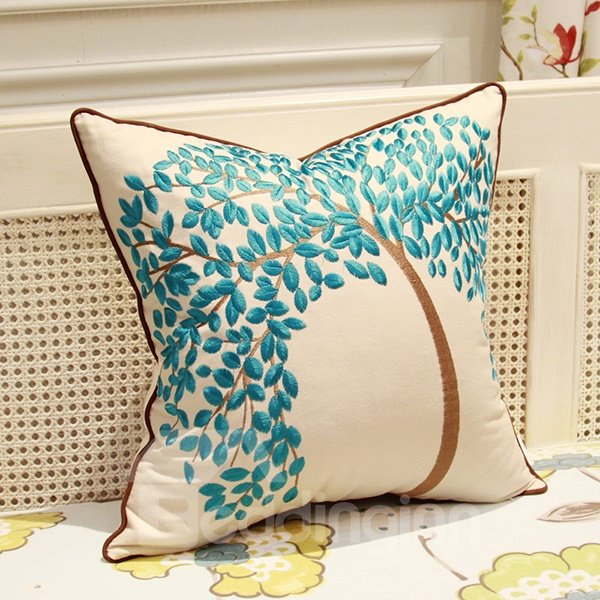 The Life Tree Printing Linen Throw Pillow