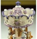 Romantic Flash Light Merry-Go-Round Music Box - Valentine Anniversary Birthday Gift