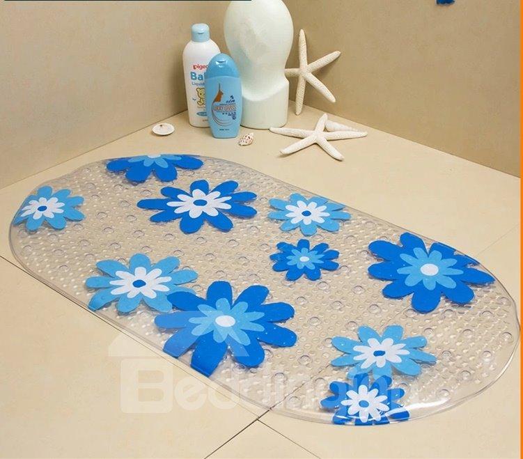 Bargain Price Transparent  Flower Massage Salient Point PVC   Bath Mat