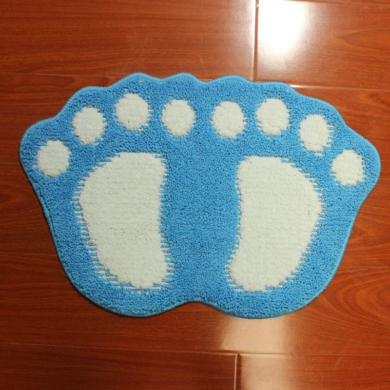Cute Cartoon Big Foot Area Rug Bedroom Door Floor Mat