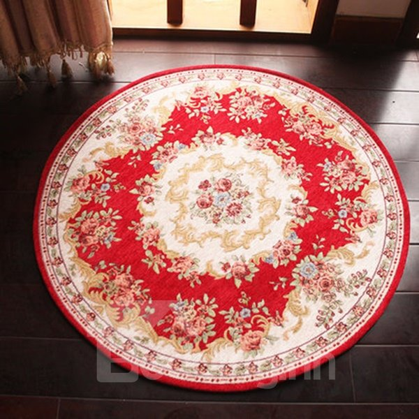 High Class Coffee Table Tea Table Floral Patterned Round Area Rugs