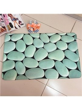 Coral Fleece Cobblestone Water Absorption Skid Resistance Soft 3D Bath Rug