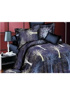 Tree of Life Print 4-Piece Polyester Duvet Cover Sets