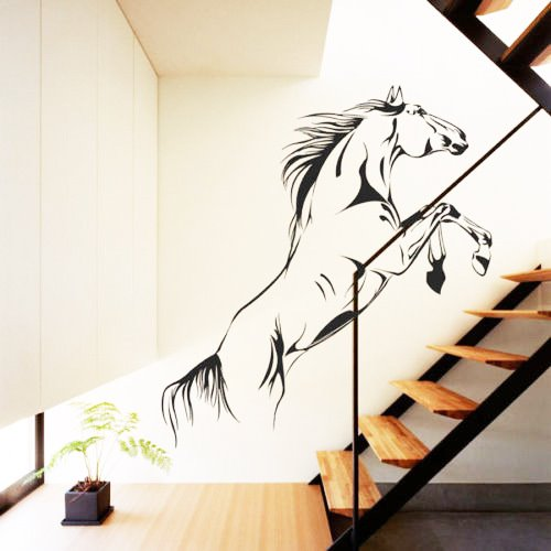 Galloping Horses Wall Sticker Living Room Staircase TV Background Stickers