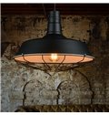 Retro American Country Style Pan Shade Framed Pendant lights