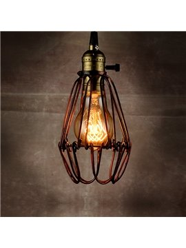 American Country Style Loft Iron Cage Pendant Lights