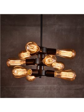 Retro Creative Decorative Coffee Bar 9-Head Waterpipe Pendant Lights