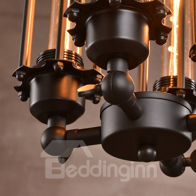 Retro Creative Coffee Bar Edison Flute 4-Head Pendant Lights