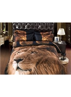 Powerful Lion Print 6-Piece Duvet Cover Sets
