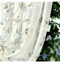 Decorative Linen and Polyester Birds and Flowers Fresh Style 2 Panels Sheer and Drapes