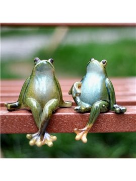 Creative Cute Porcelain Frog Pair Desk Decoration