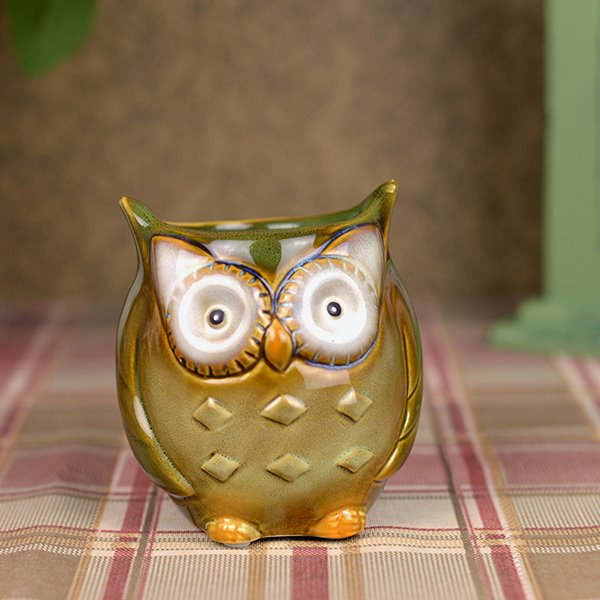 Super Cute Owl Desktop Decoration Organizer Pen Holder