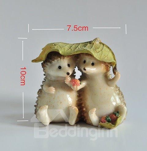 Cute Loving Hedgehog Couples in Shelter Desktop Decoration
