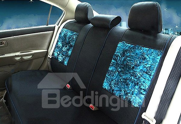 Fashionable Lace Decorated Sandwich Car Seat Cover