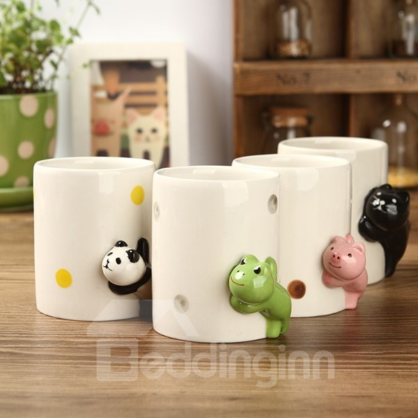 Creative Cute 3D Cartoon Animal Hide-and-Seek Porcelain Mug