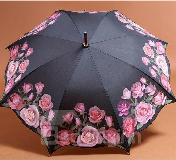 Wonderful Red Roses Sun and Rain Umbrella