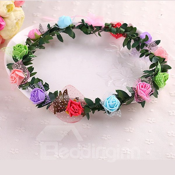 Refreshing Beautiful Colorful Flower Crown