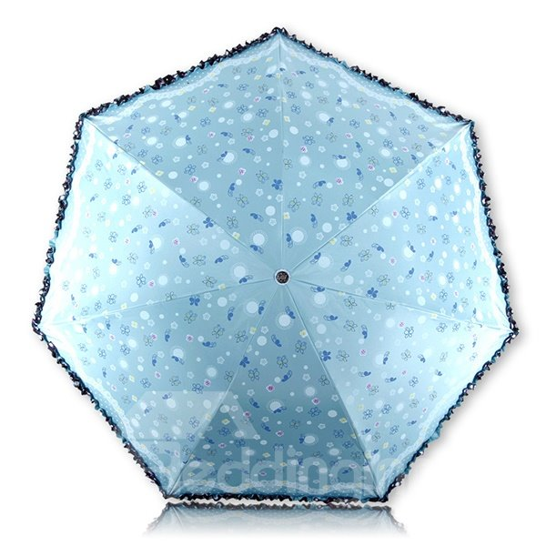 Gorgeous Flower Pattern Lace Umbrella