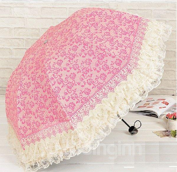 Wonderful Princess Flower Lace Umbrella