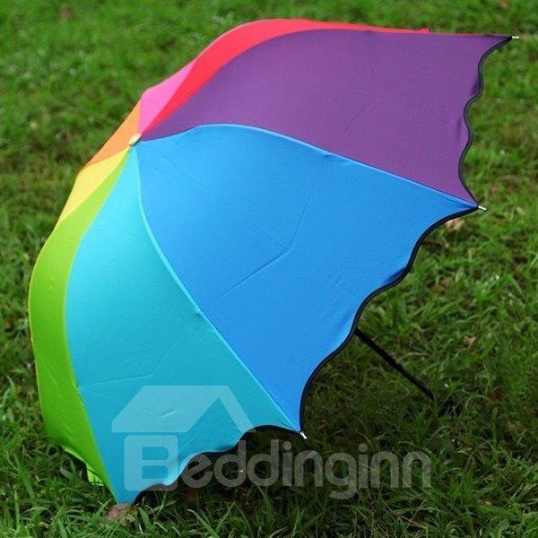 Wonderful Colorful Rainbow Sun Umbrella
