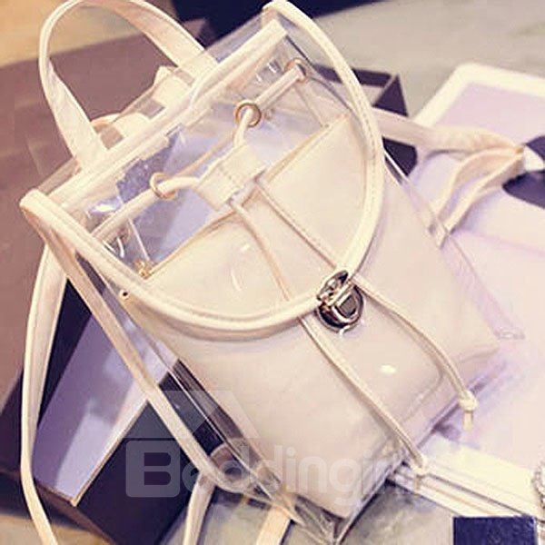 New Korean Style Transparent Backpack