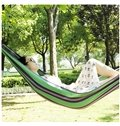 Thick and Anti-Tearing Outdoor Stripe Canvas Hammock