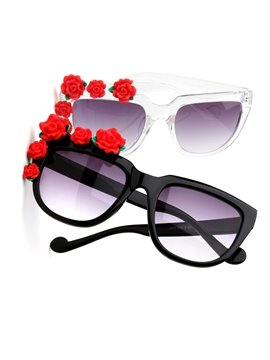 Gorgeous Bohemia Flower Decoration Women's Sunglasses