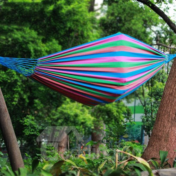 Bright Color Leisure Style Canvas Outdoor Hammock