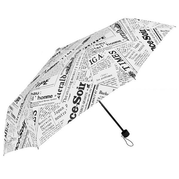 Creative Newspaper Print Sun Umbrella
