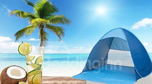 Outdoor 2-Person Lightweight and Waterproof UV-Protection Beach Tent
