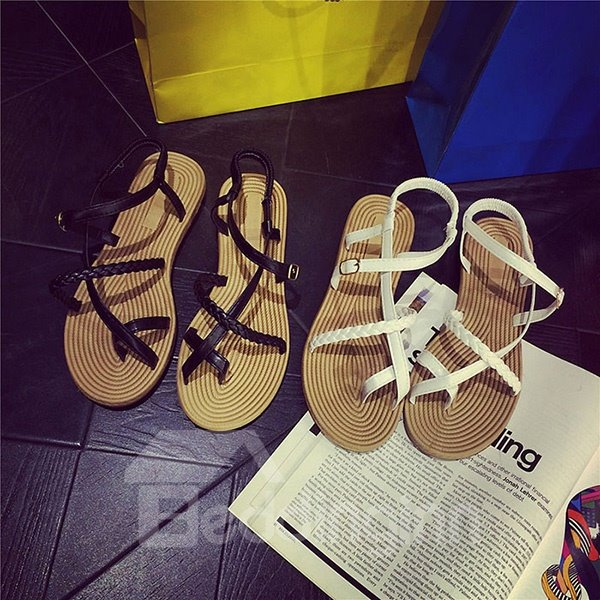 Smart Roman Hollow Thong Beach Shoes