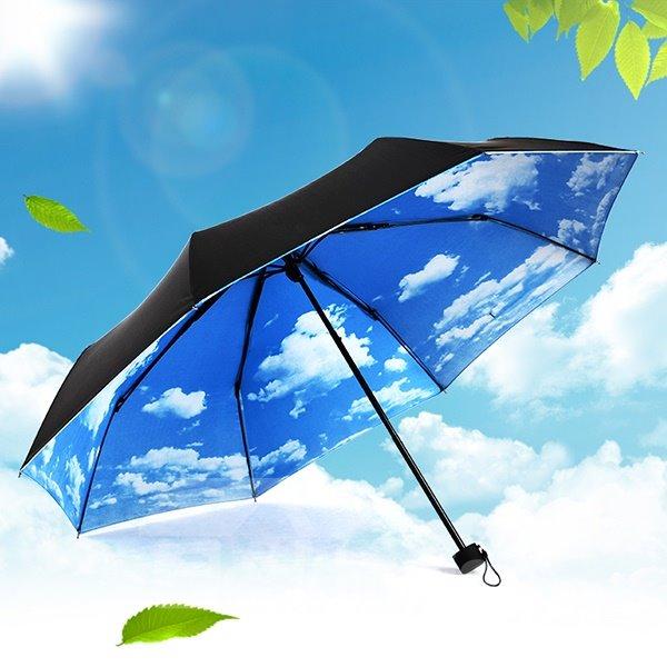 Creative Blue Sky Sun Umbrella