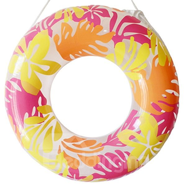 Graceful Floral Adult Swim Ring with Safety Rope
