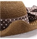 Lovely Dotted Ribbon in a Bow Women