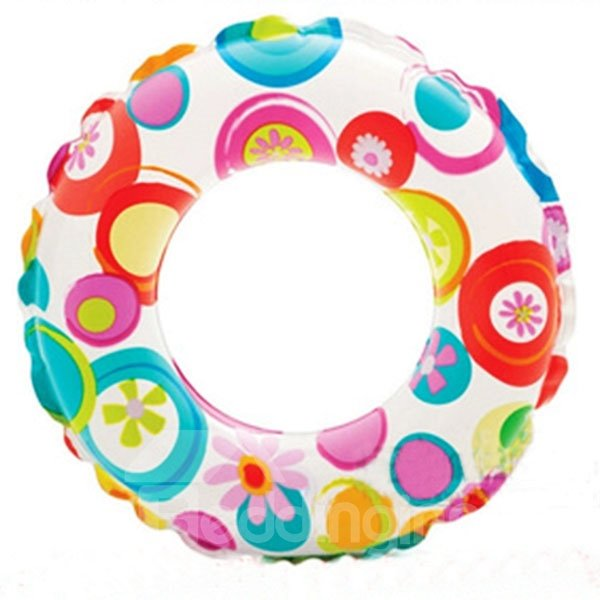 Colorful Circle Pattern Swim Ring for Children