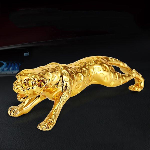 Golden Leopard Dashboard Metallic Creative Car Decor