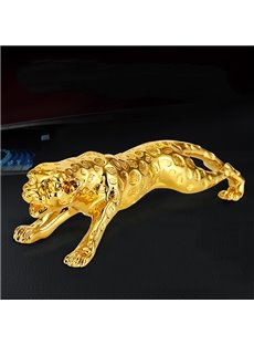 Golden Leopard Dashboard Metallic Creative Car Decor