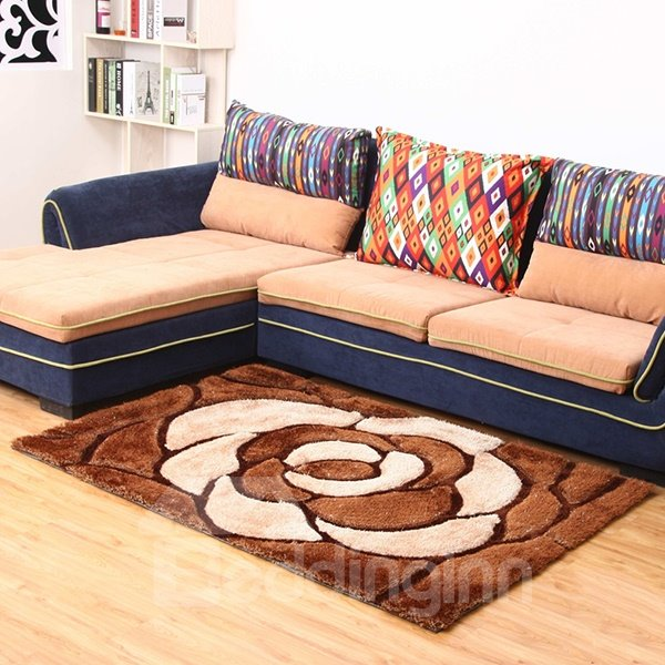 Top Quality Extra Thcikness Living Room Multi-Color 3D Flowers Area Rugs